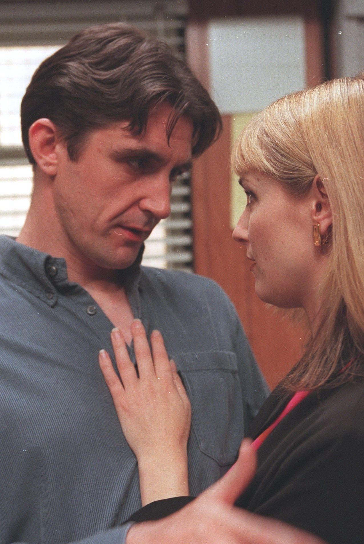 Stephen in Emmerdale as Sean Reynolds having an affair with Tara Thornfield