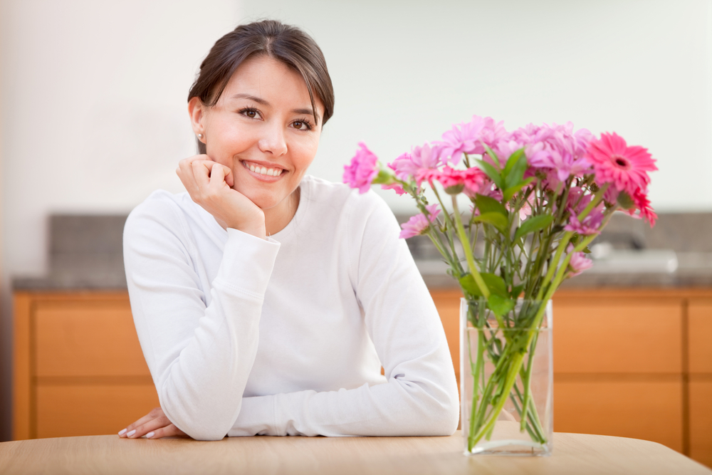 Women especially love to receive fresh flowers