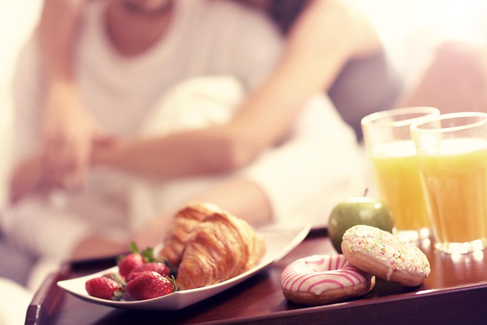 Breakfast in bed is a favoured treat