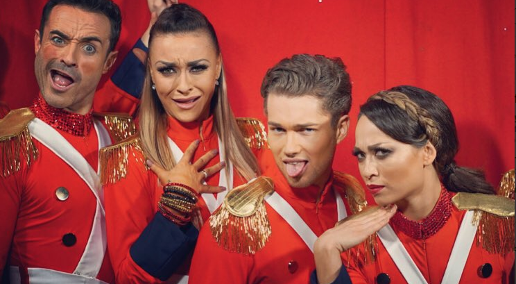 Joe on the Strictly tour: photo from Twitter