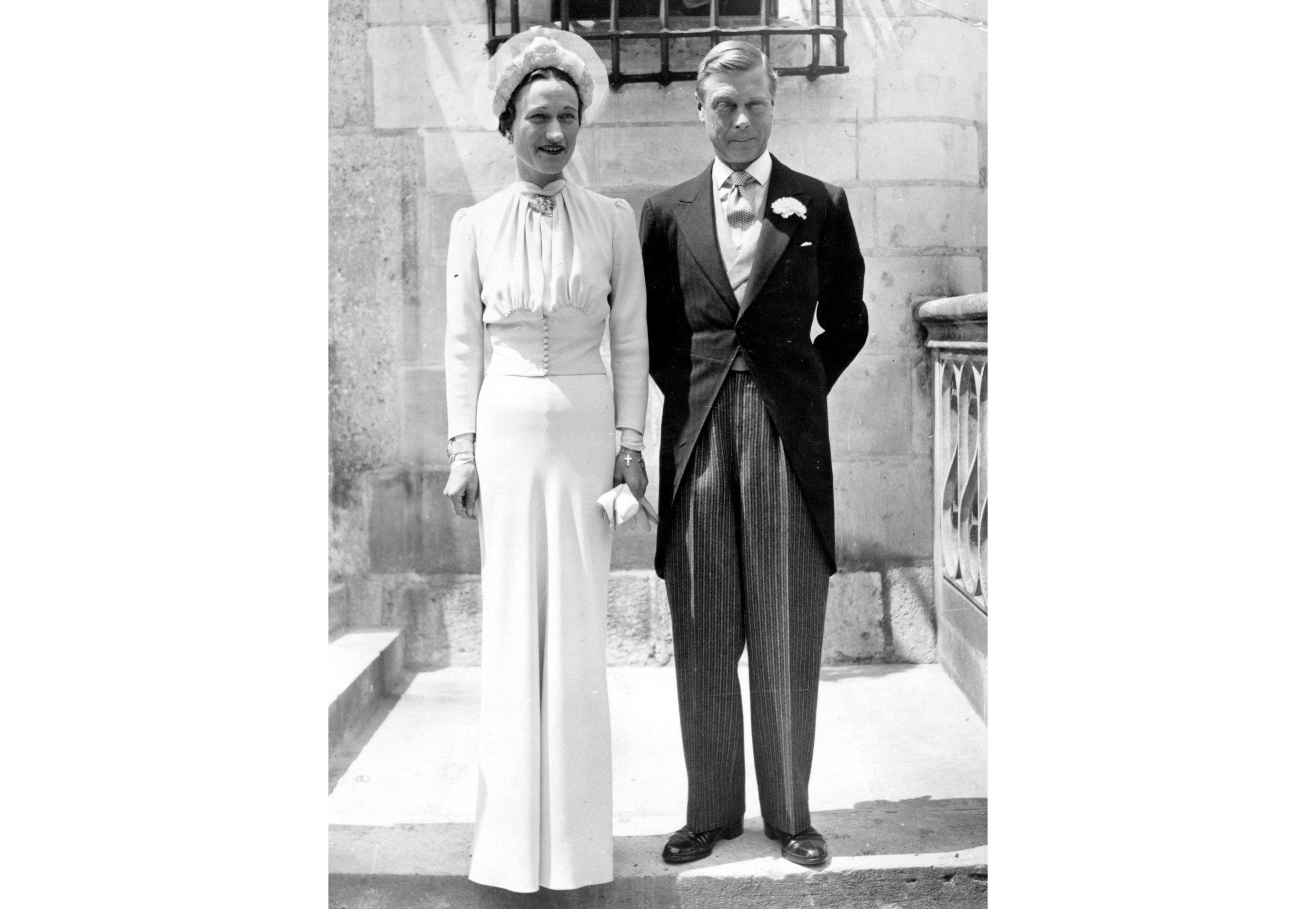 Wallis and Edward on their wedding day