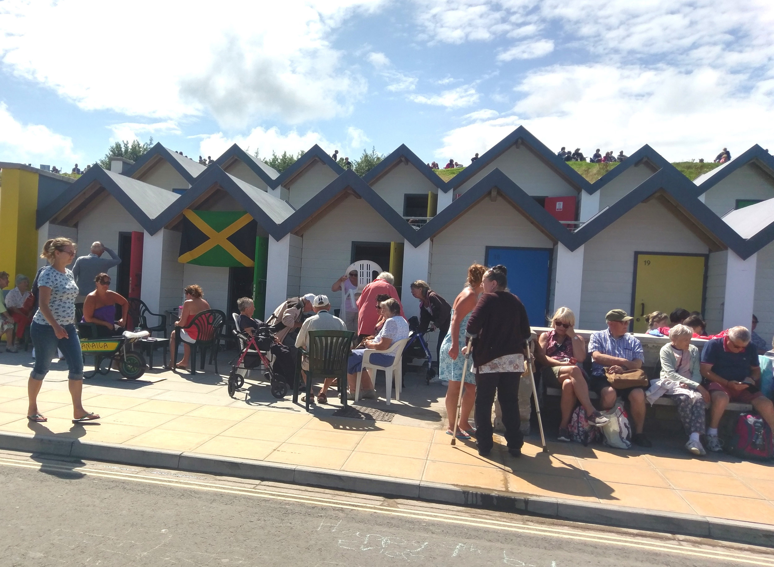 Last year's winners:Swanage Disabled Club enjoying the beech huts they rented with their award money.