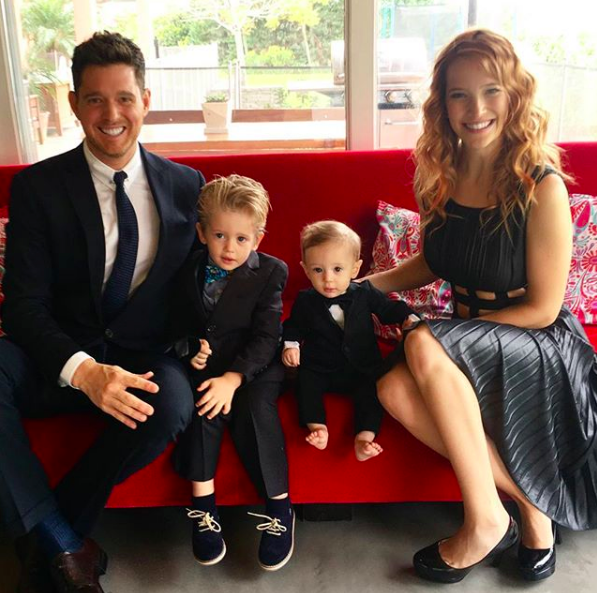 Michael with his wife and two sons  @michaelbuble on Instagram