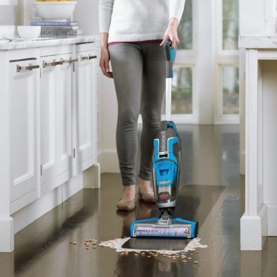 Can your vacuum suck up spilled cereal and milk?