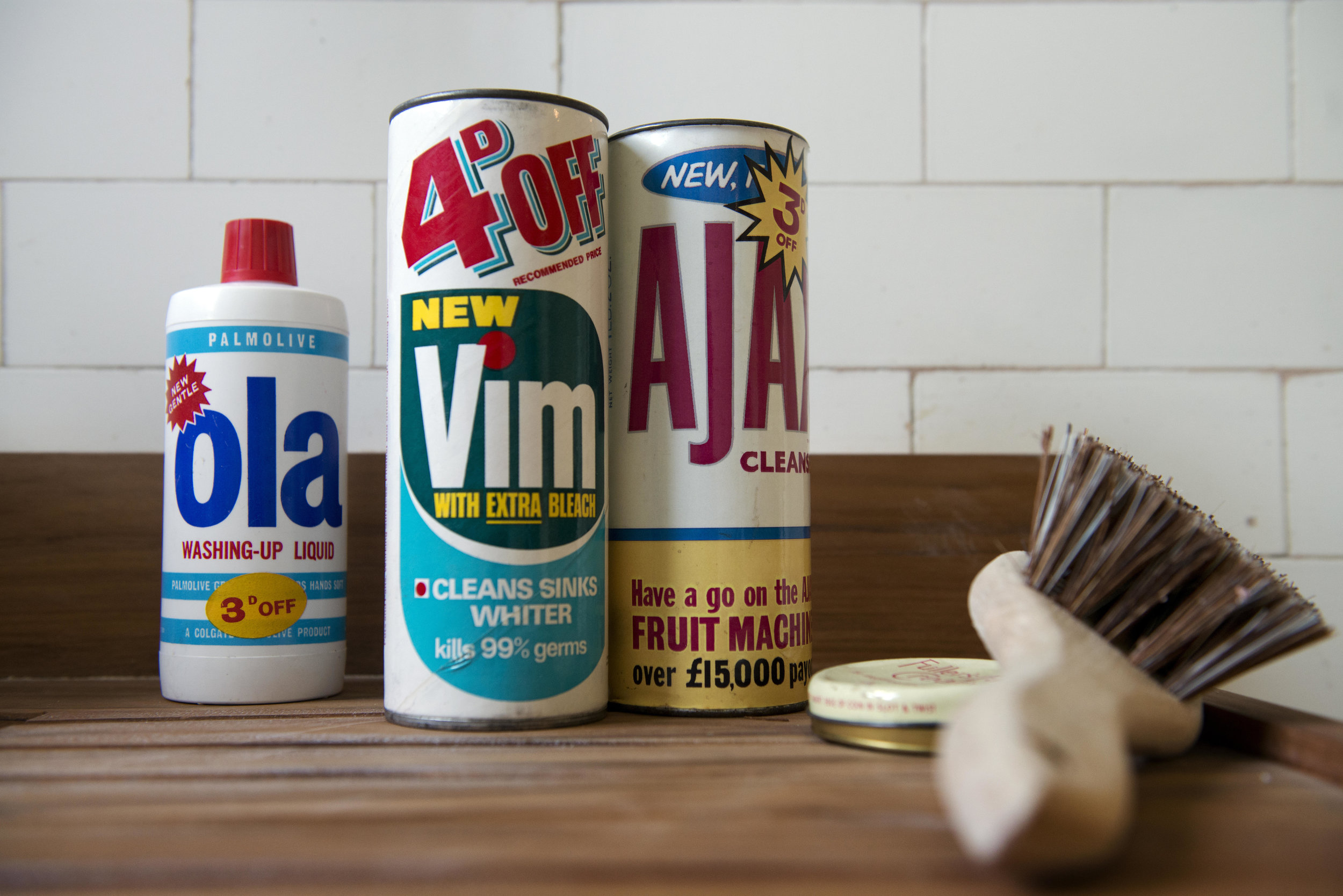 Our cleaning cupboards were always full of products like this
