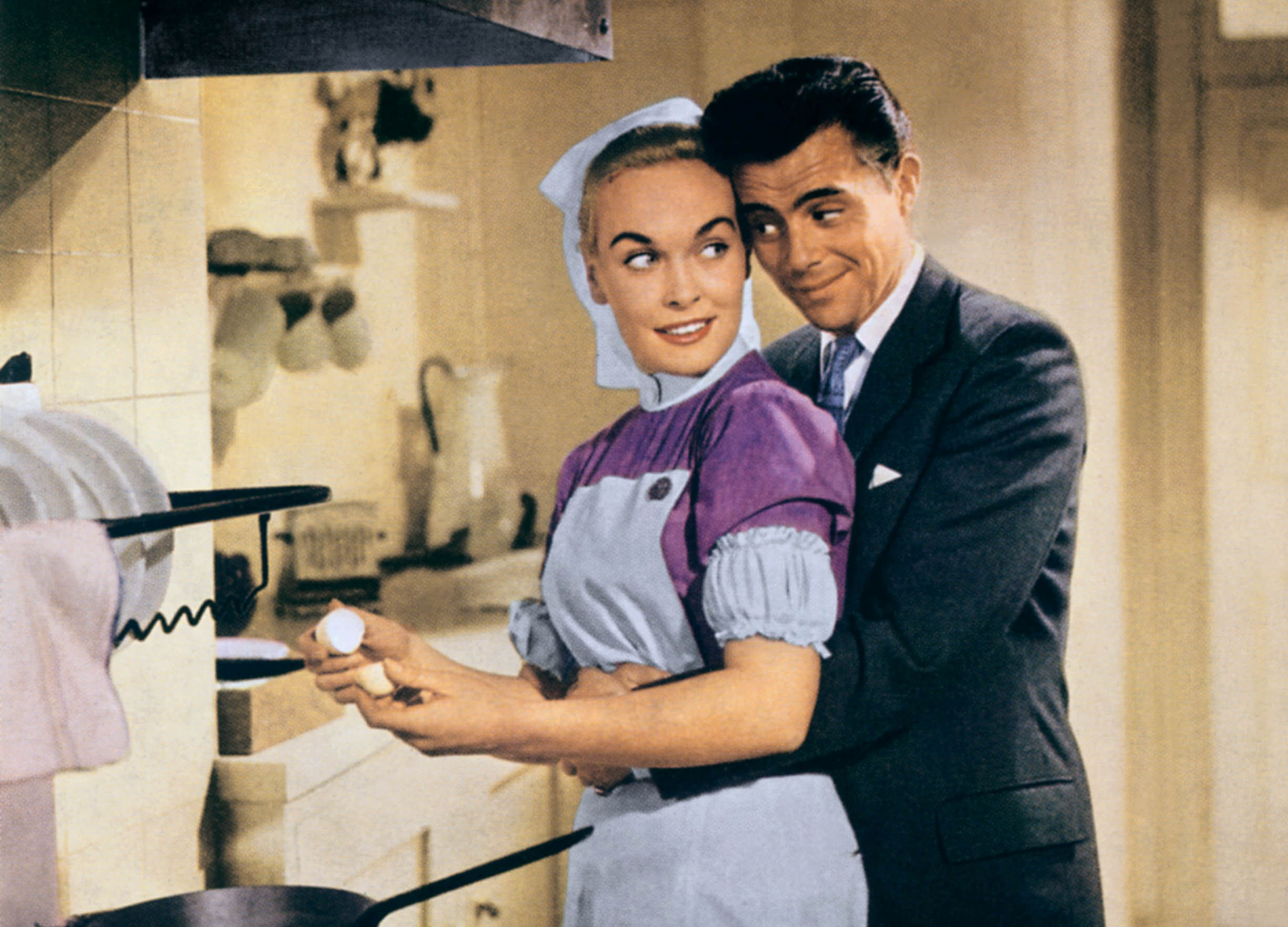 Dick in Doctor at Large (1957) alongside Shirley Eaton