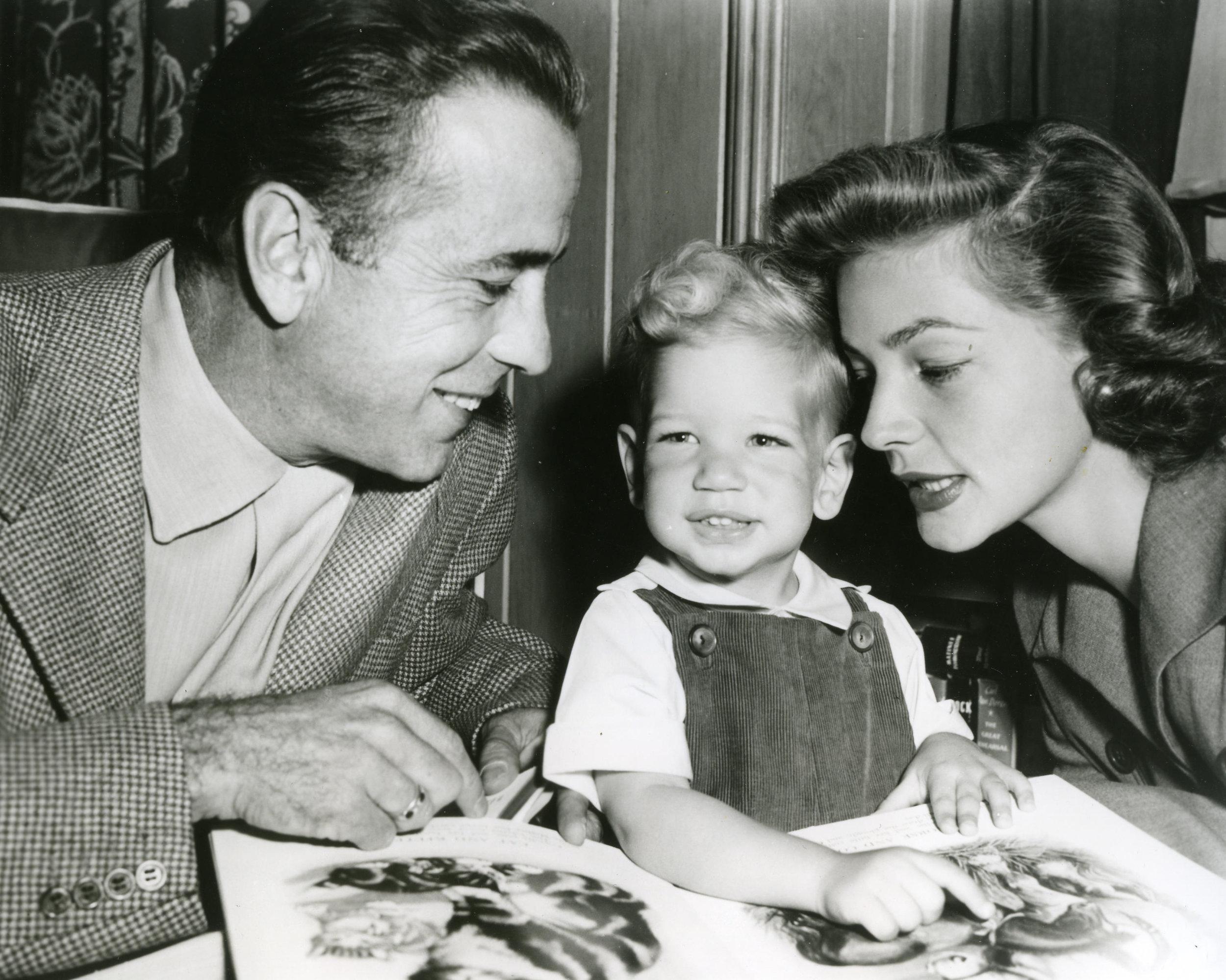 Happy parents with their son Stephen around 1951