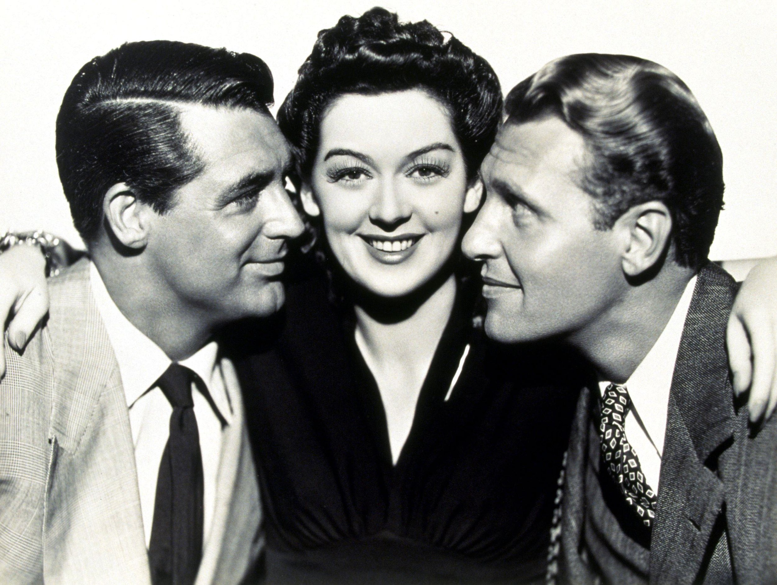 In His Girl Friday with Rosalind Russell and Ralph Bellamy