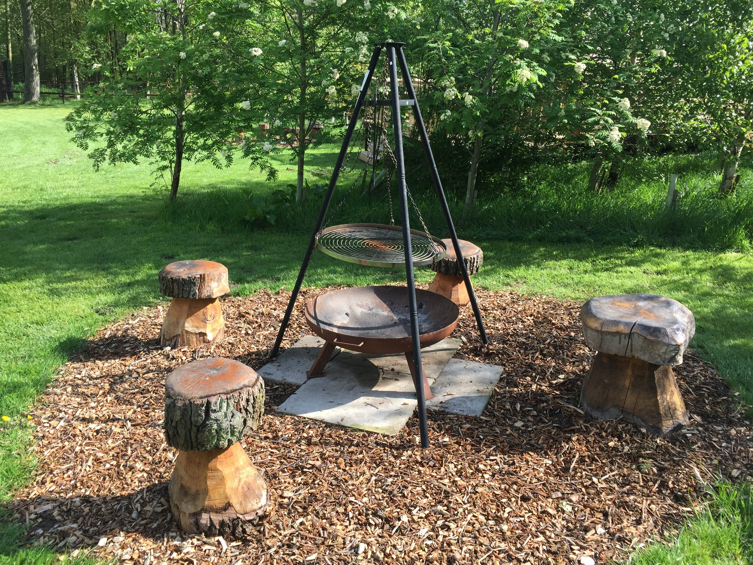 Each cabin has a fire pit - ideal for catching up after a day of exploring!