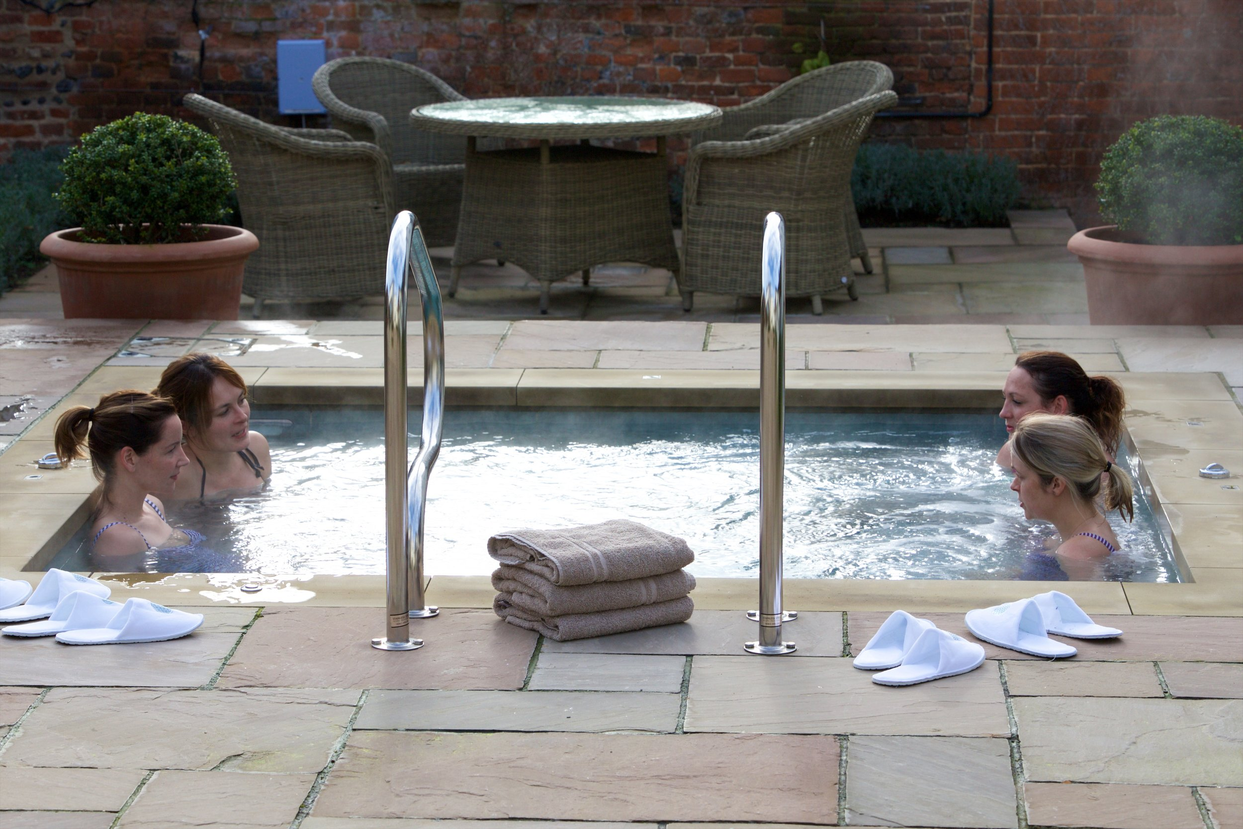 The vitality pool at Weaver's House Spa
