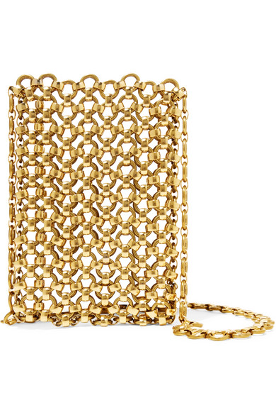Laura Lombardi gold-tone brass clutch - This beautiful clutch is exclusive to NET-A-PORTER, made of gold-tone brass. Laura Lombardi works almost exclusively with raw or recycled metals.A beautiful piece for the discerning woman, who likes to carry only her essentials.