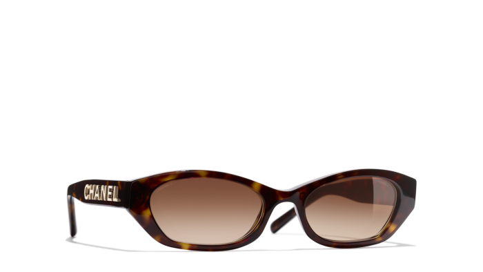Chanel rectangle tortoise shell sunglasses - A favourite of our founder and Lily-Rose Depp. Elegant for both the winter and as a reminder on the days ahead when we will yearn for summer. Usually our founder is opposed to a brand name being written on a product, but says these are ultimately so luxurious that it has to be there to claim its status.