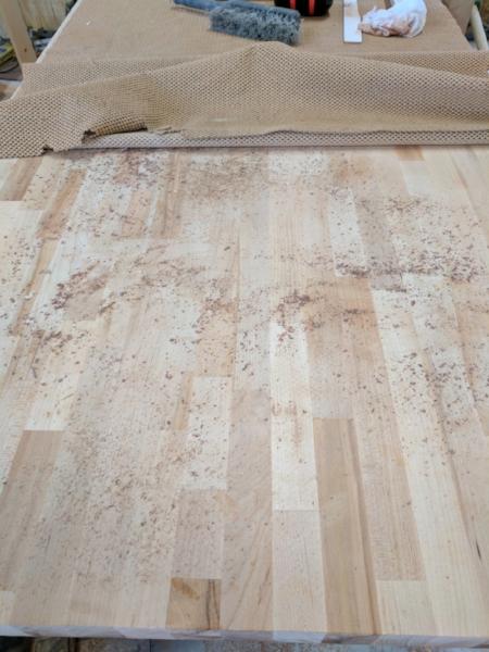 All the debris below the mat
