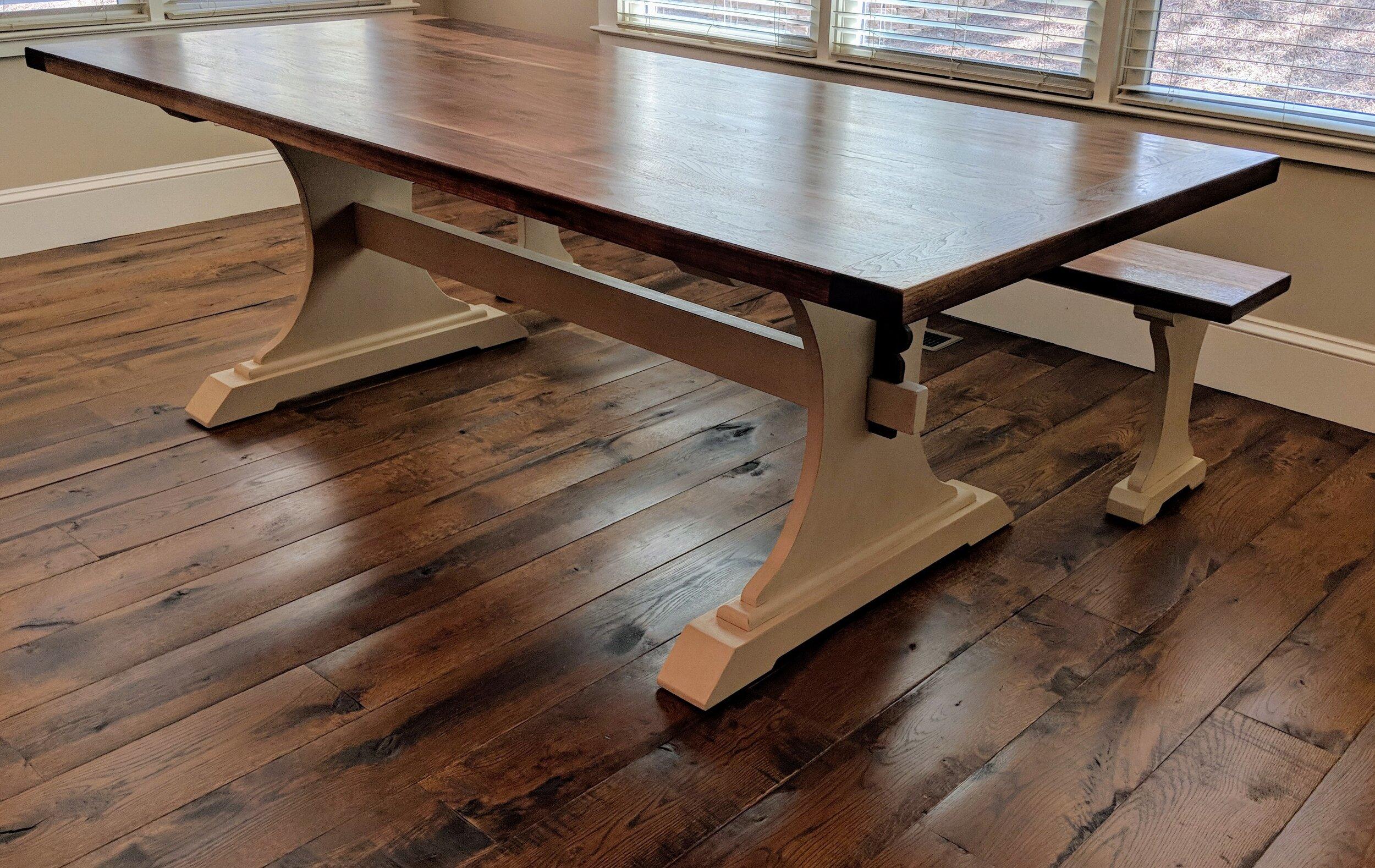 Building A Trestle Table Dining Vanvleet Woodworking