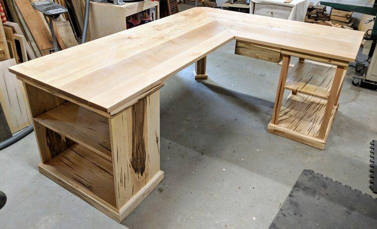 Custom Corner Office Desk Vanvleet, Custom Built Desk