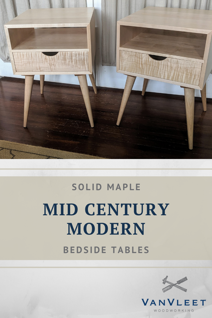 Mid Century Modern Side Tables Vanvleet Woodworking