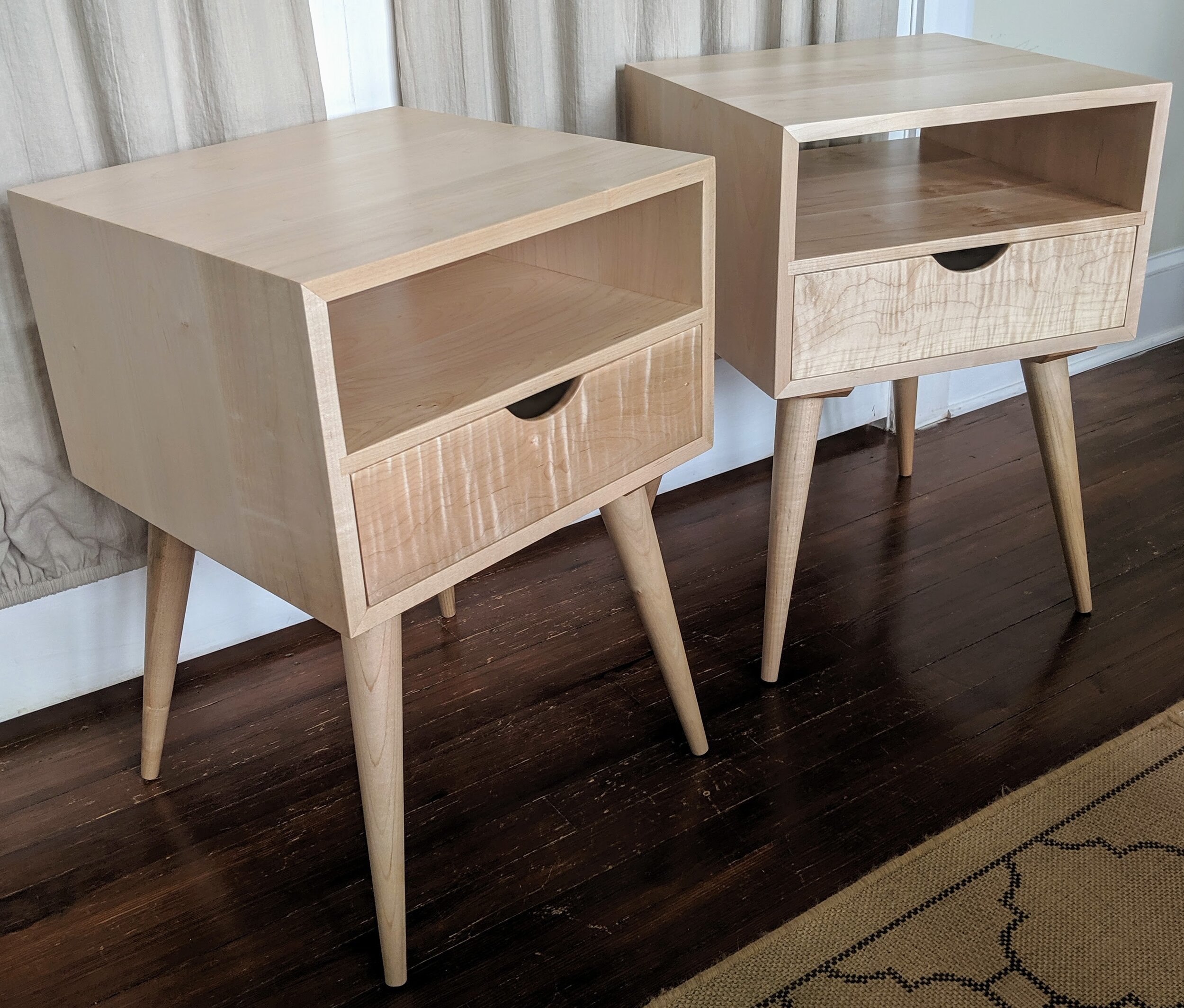 Image of: Mid Century Modern Side Tables Vanvleet Woodworking