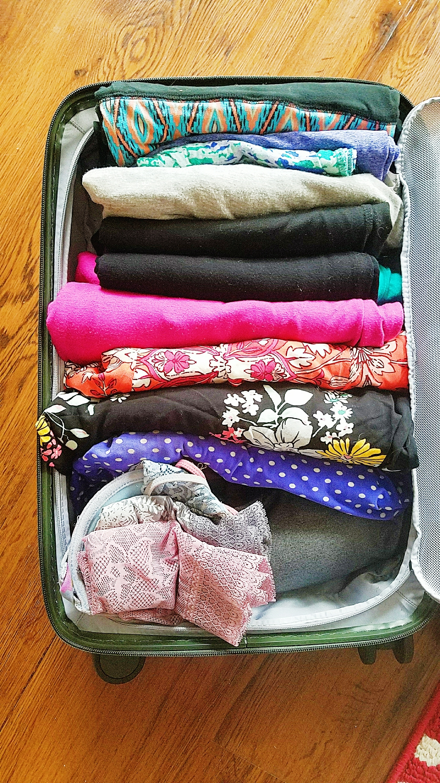 A weeks worth of clothes in one small case!