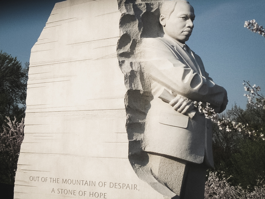 Civil rights leader martin luther king monument in washington dc