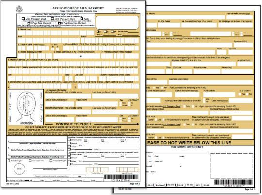 passport form ds-11