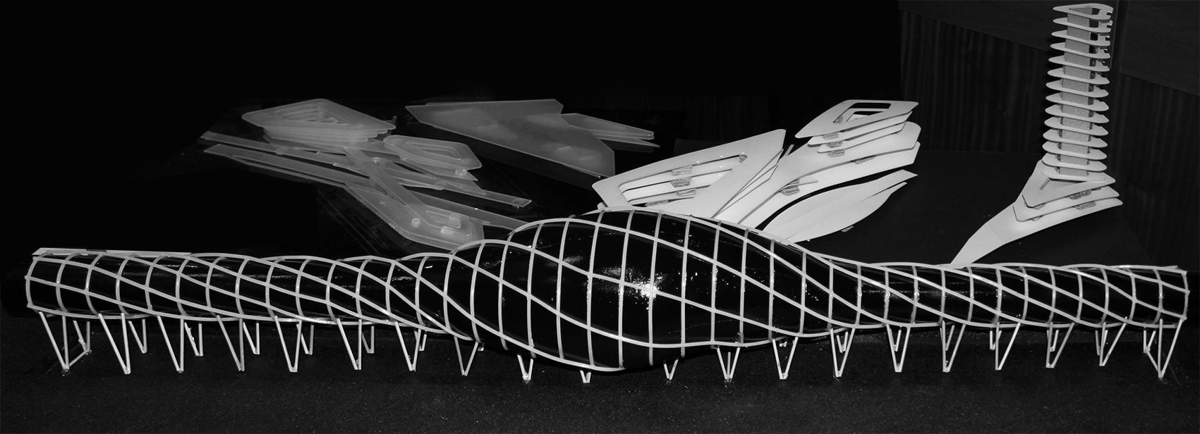 Railway station model | Material: wood
