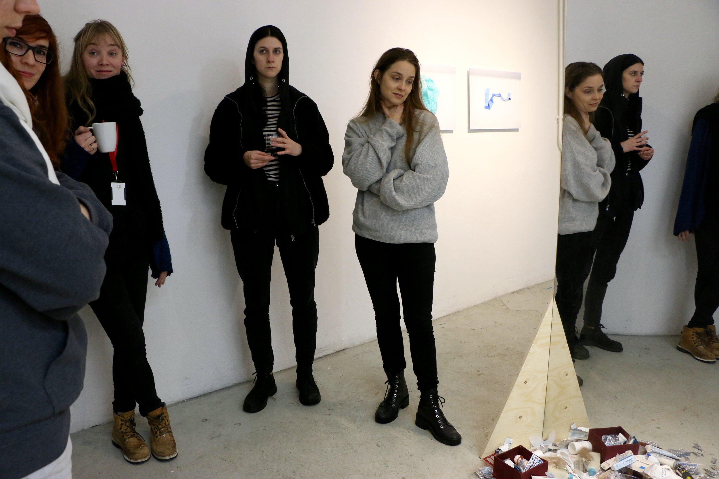 A private audience with Victoria Verseau - touring  Through The Looking Glass' (2016). Curated by Alba Beaz, and hosted by Hangmen Projects