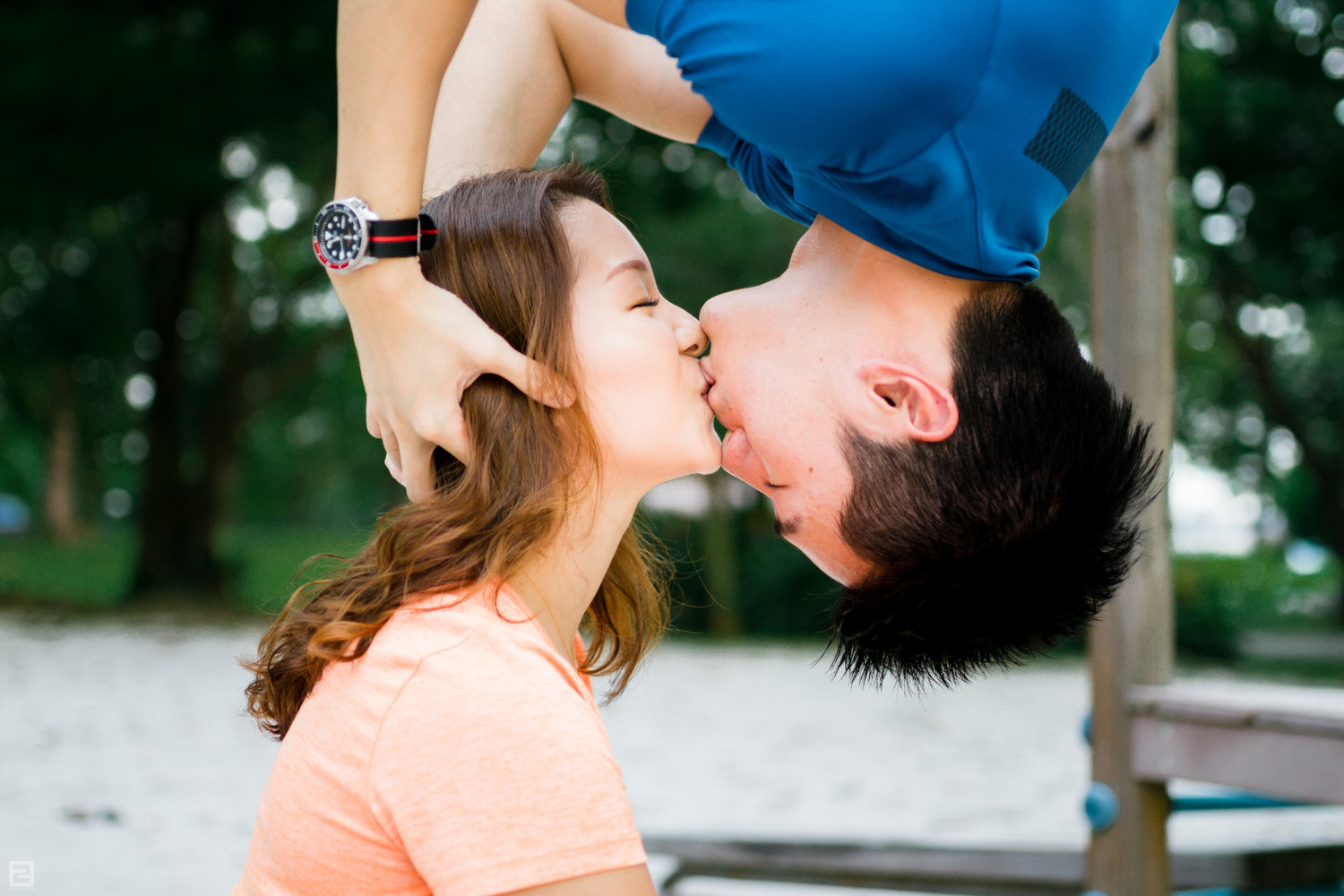 An almost Spiderman Kiss.