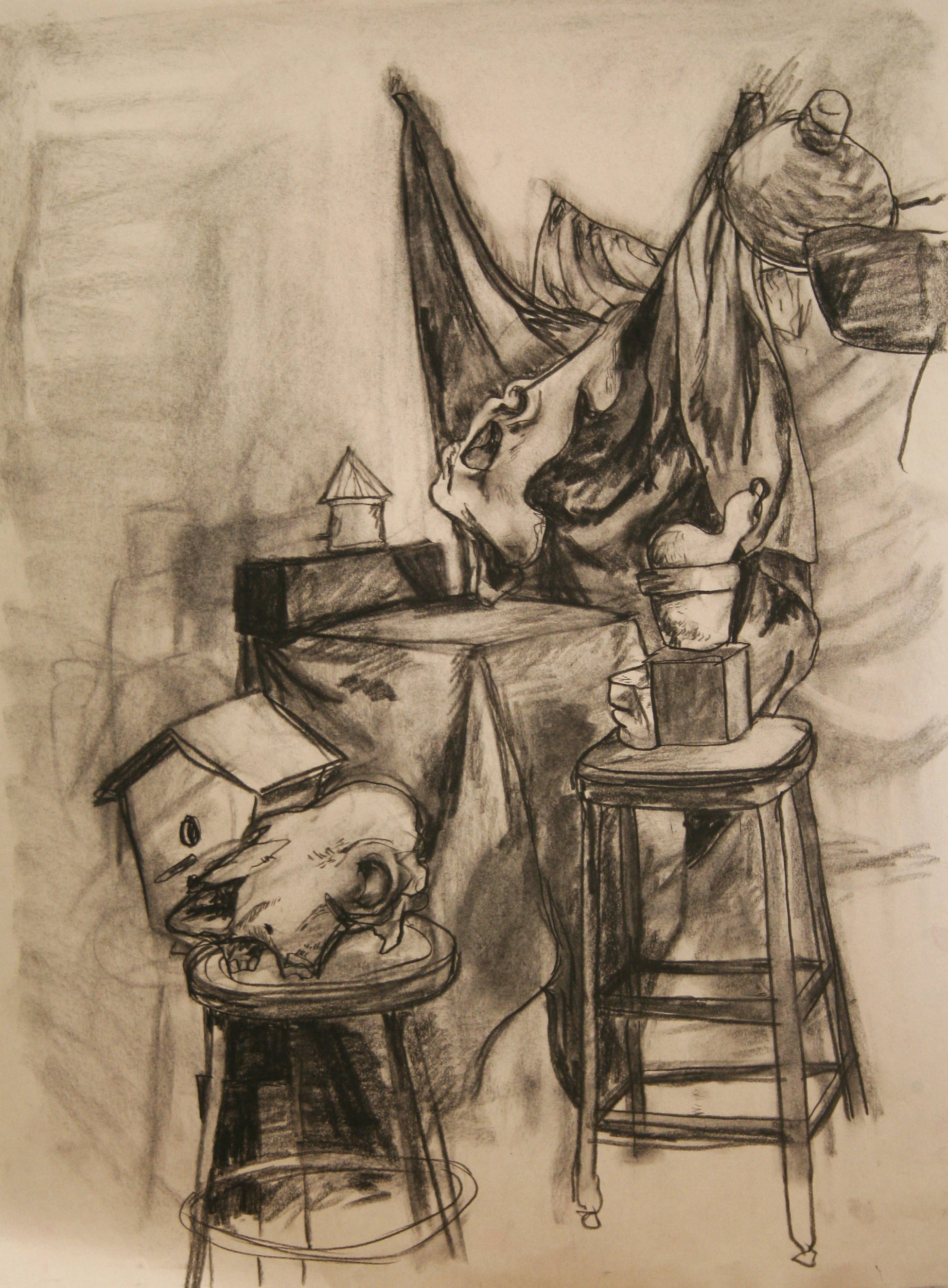 "Drawing II  24x36""  Charcoal"
