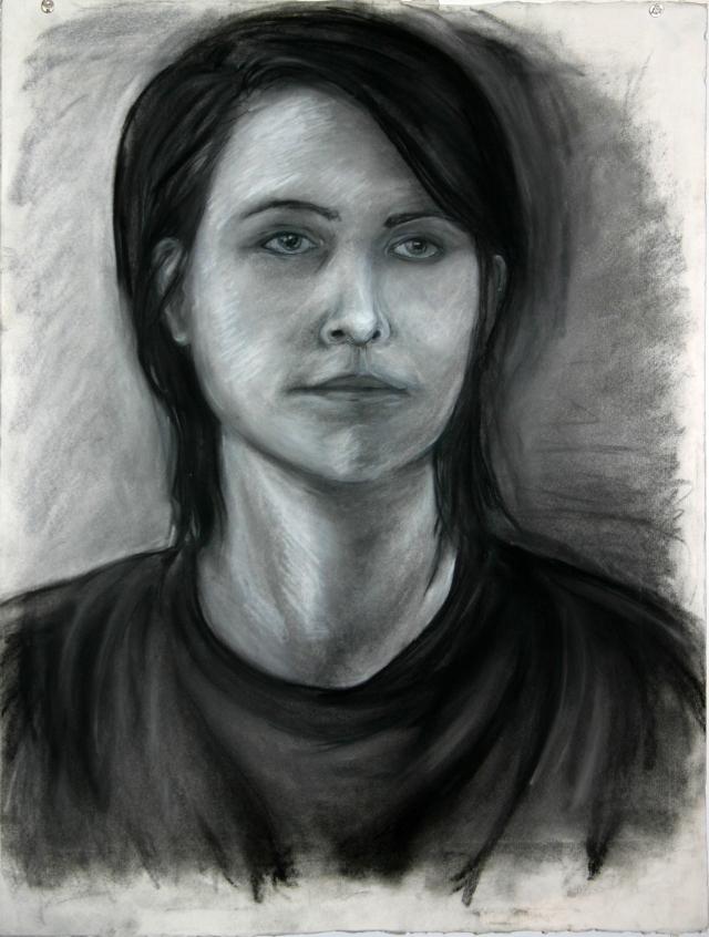 "Drawing I  22x30""  Charcoal"
