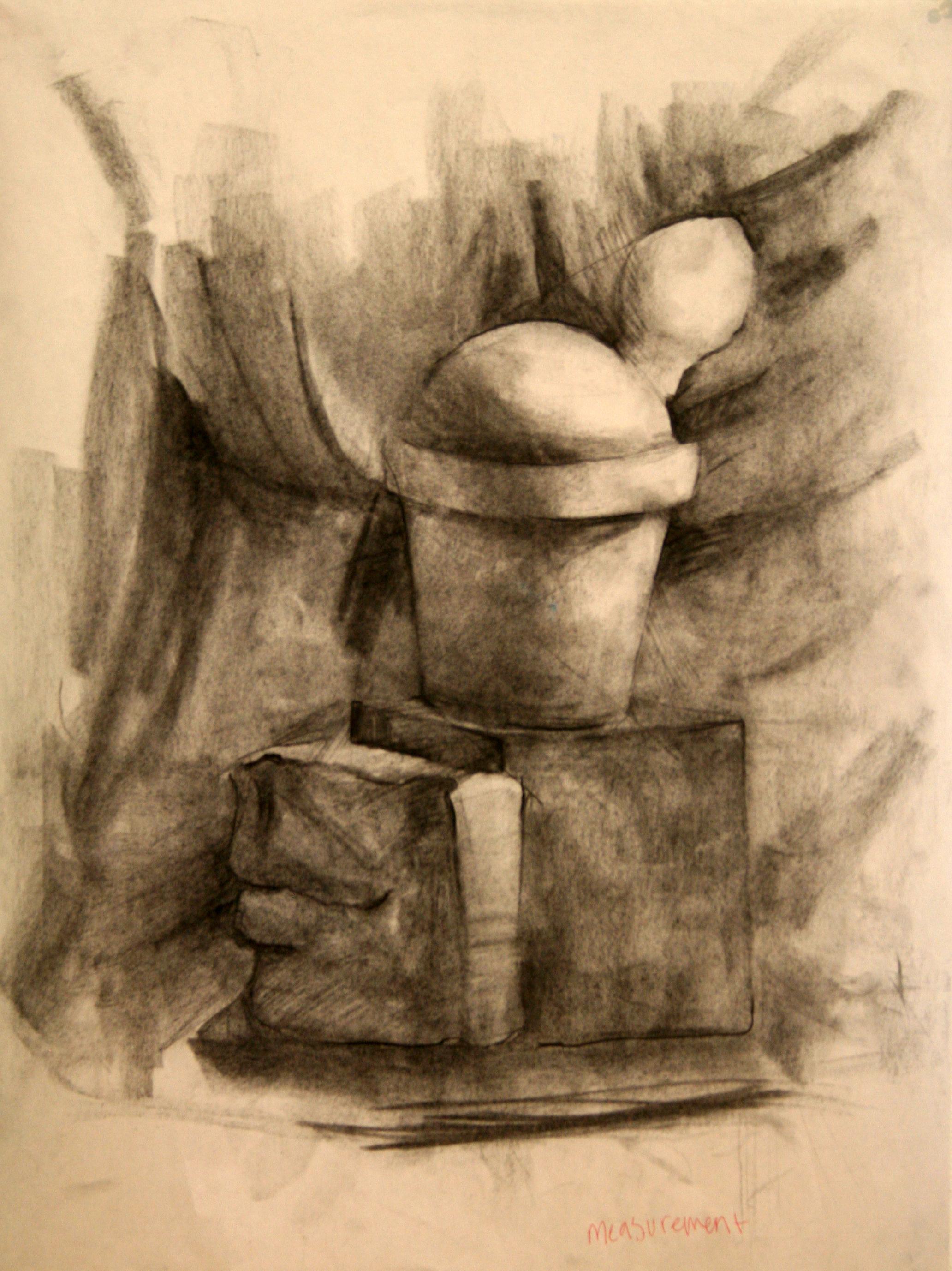 "Drawing II  18x24""  Charcoal"