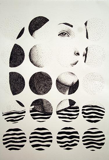 "Drawing II  22x30""  Ink"