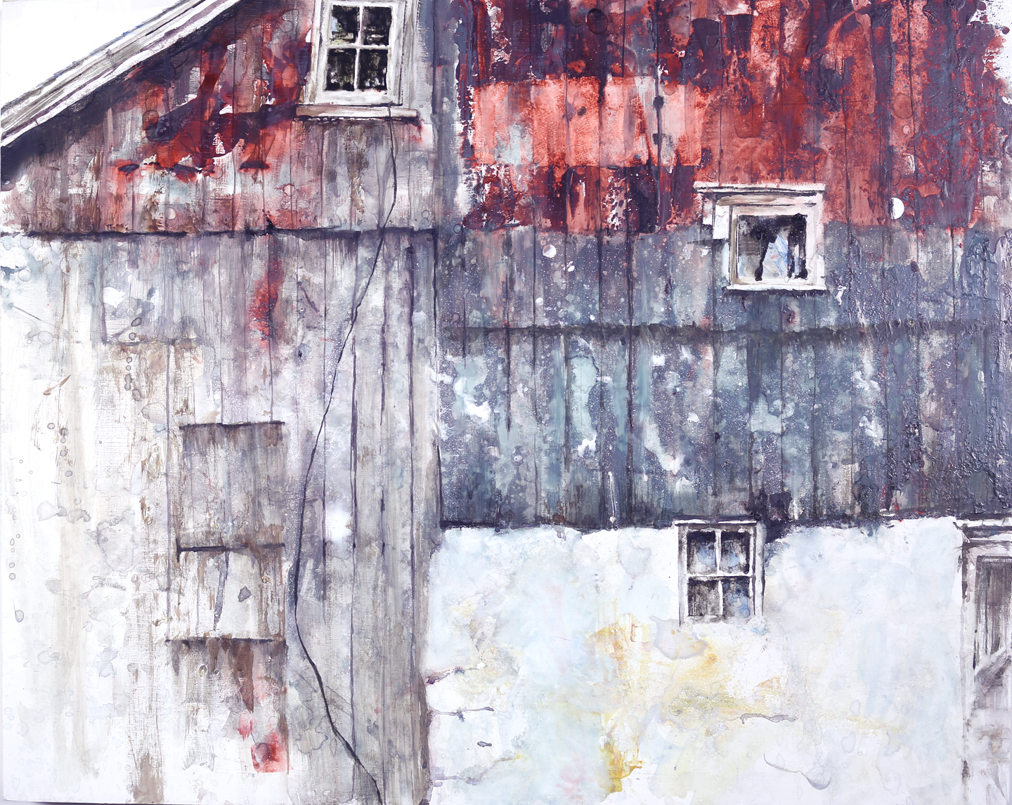 Red and Gray Barn