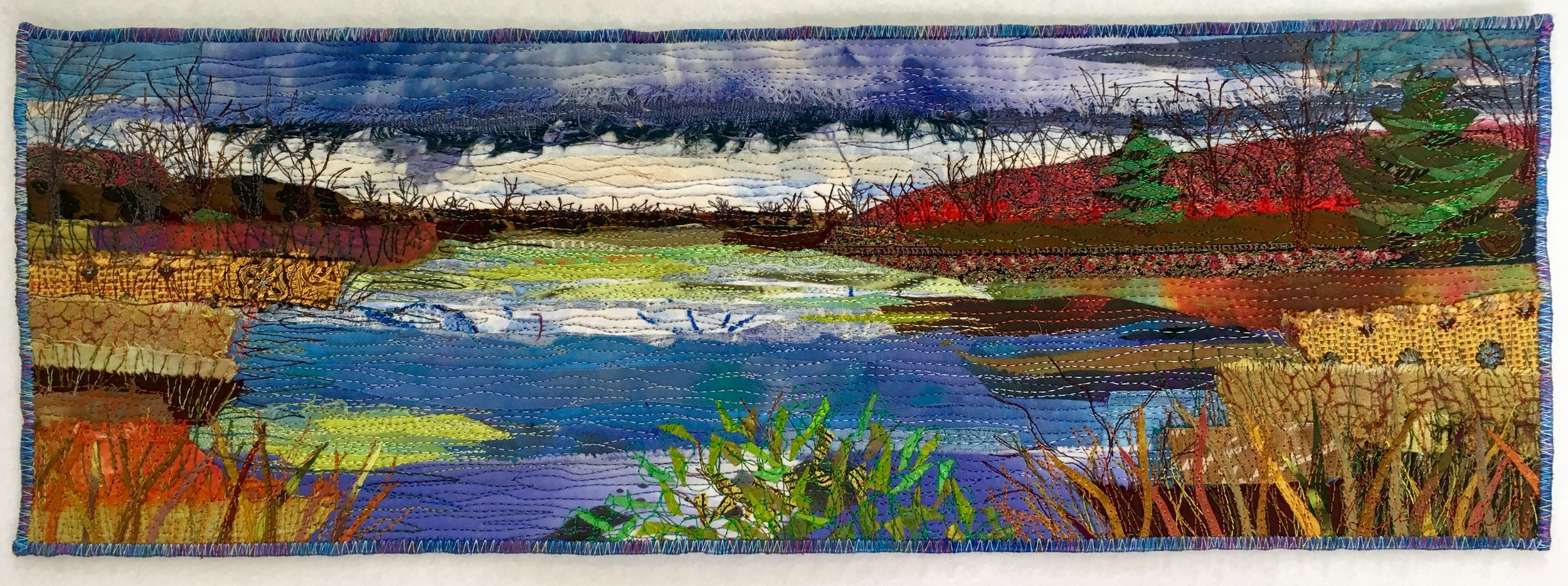 Town Park Pond, Approaching Storm - SOLD1