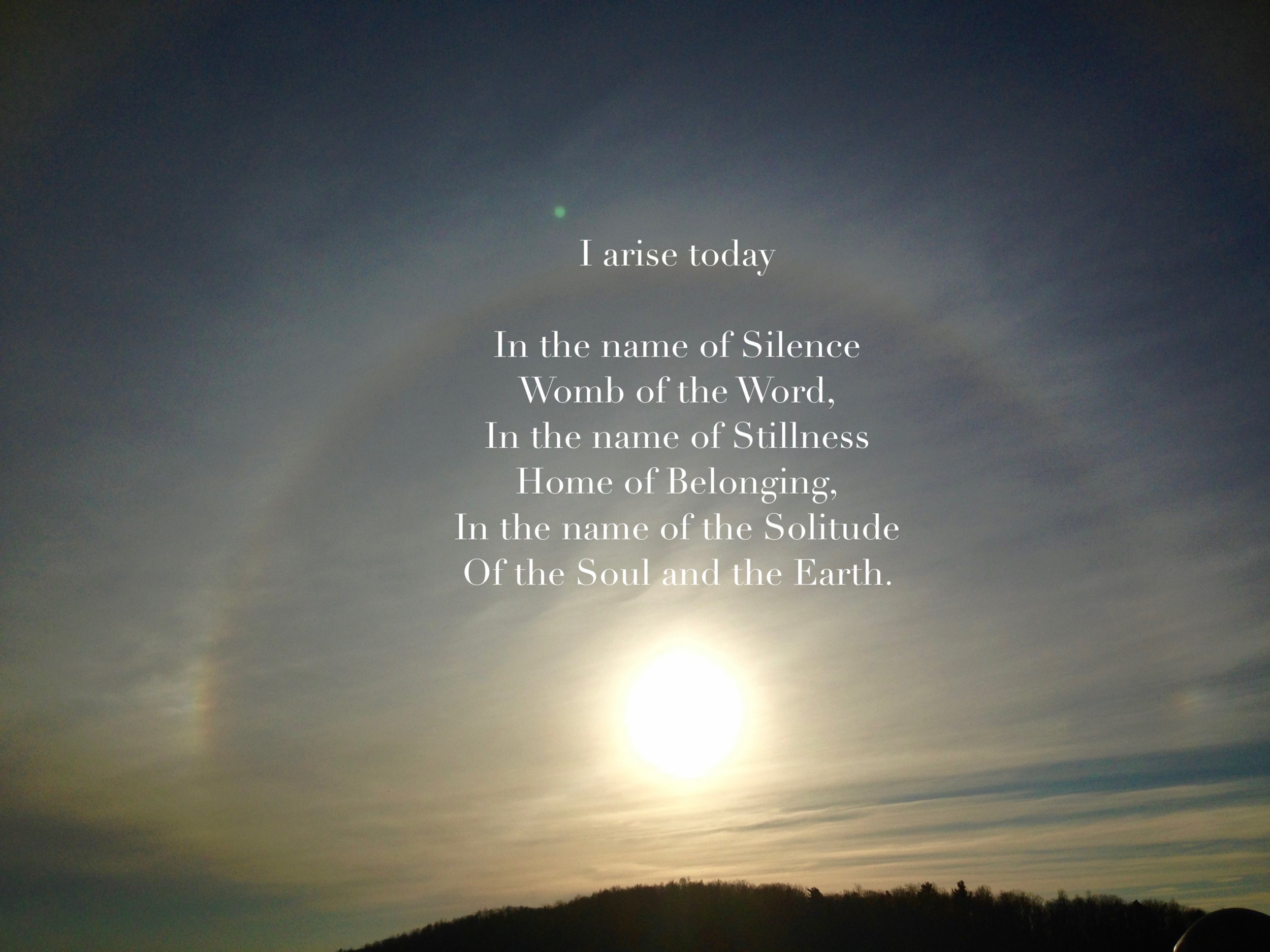 """~ excerpt from """"Matins"""" by John O'Donohue in To Bless The Space Between Us"""