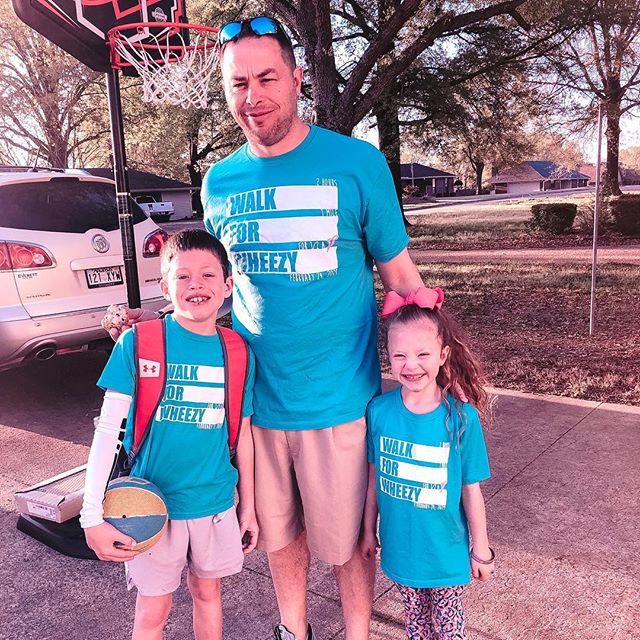 Cabot Panther Basketball Boys Head Coach, Coach Meseke, and his kids reppin' that #W4W swag for #WheezyWednesday 💓🏀