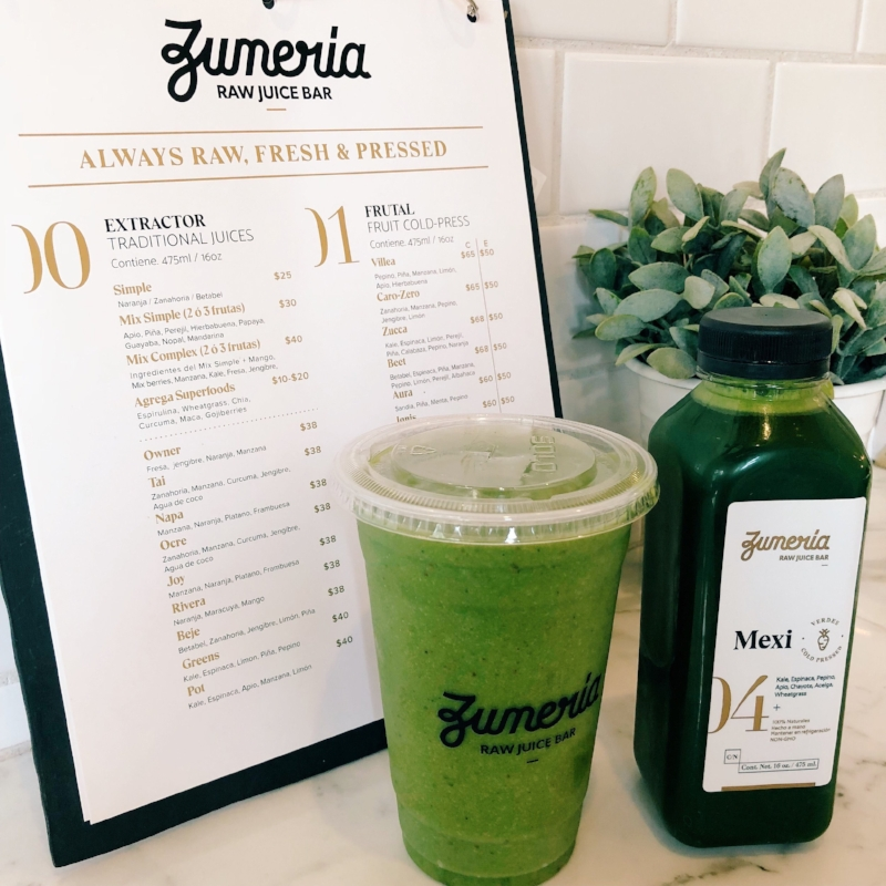 Getting all the greens at Zumeria Raw Juice Bar
