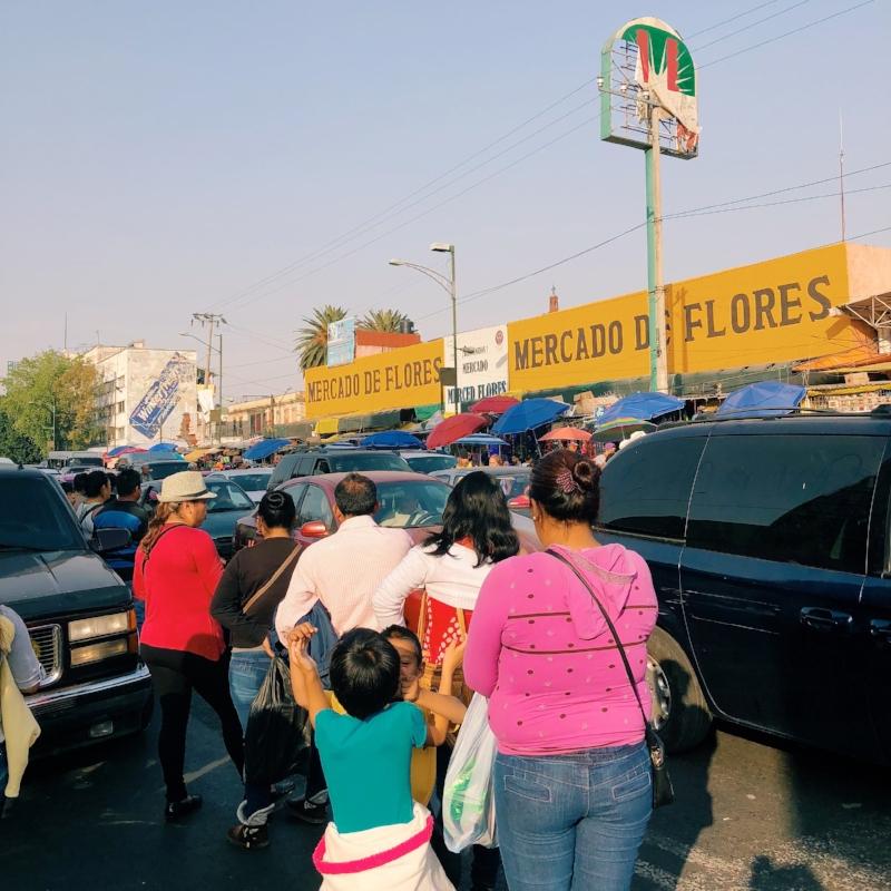 Outside the Mercado San Juan