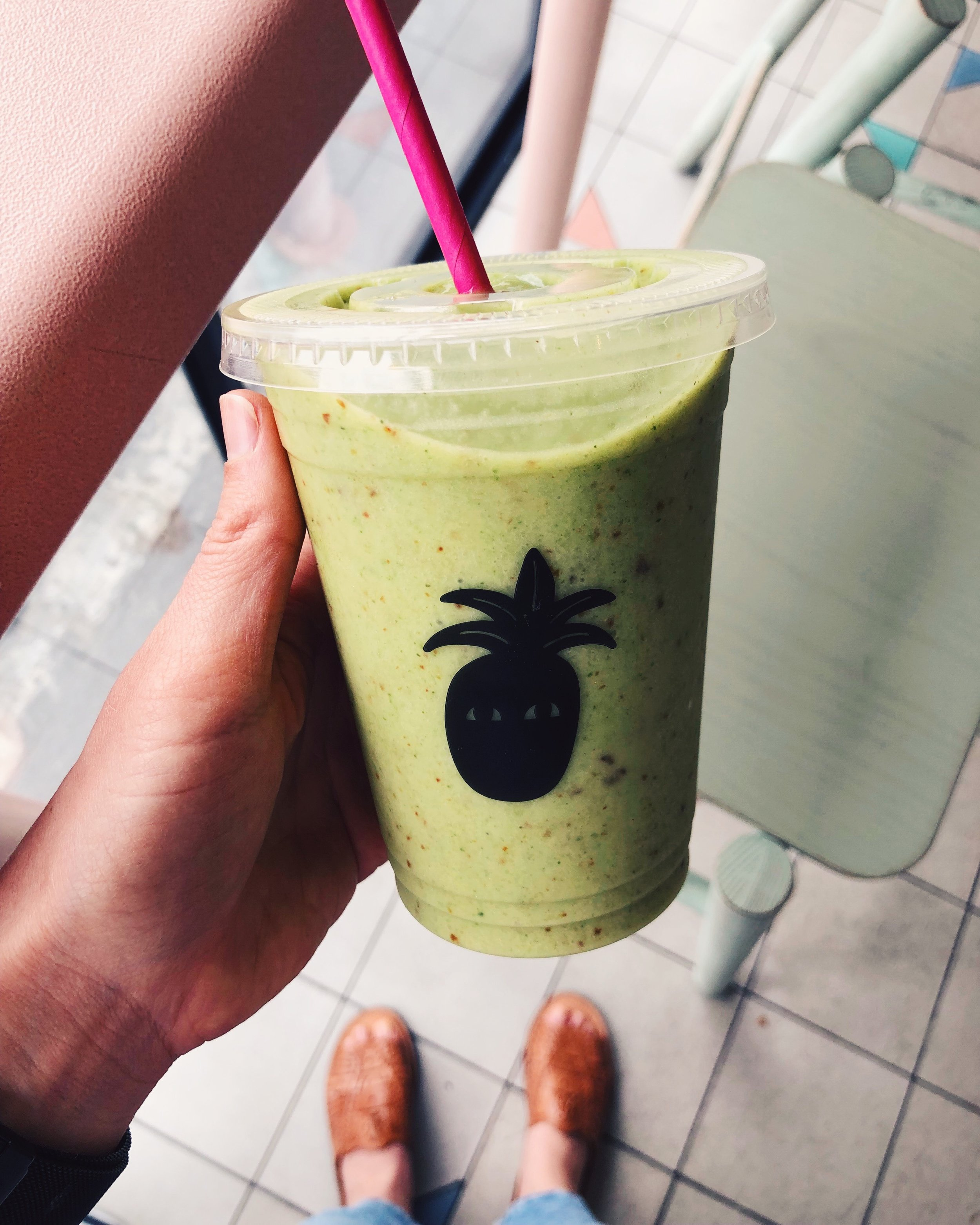 Kale and Date smoothie from Vacation