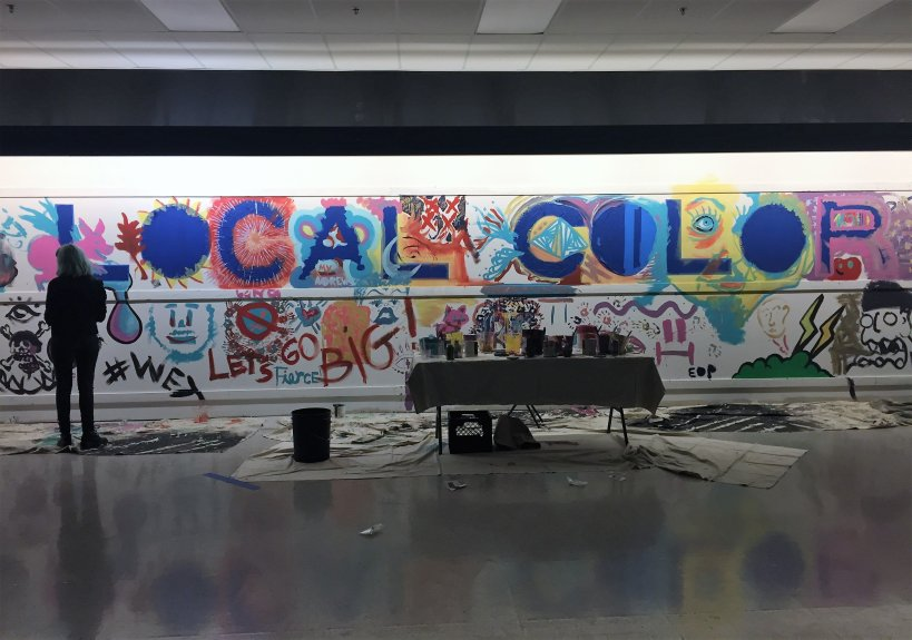 Local Color, a pop-up artists' enclave occupying the former Ross department store in downtown San Jose, is one of eight finalists from San Jose vying for part of $5 million in funding from the Knight Foundation. (Sal Pizarro/Staff)