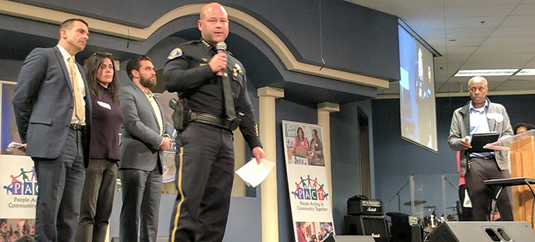 SJPD Chief Eddie Garcia (pictured center) has opposed the idea of strengthening the role of Independent Police Auditor.