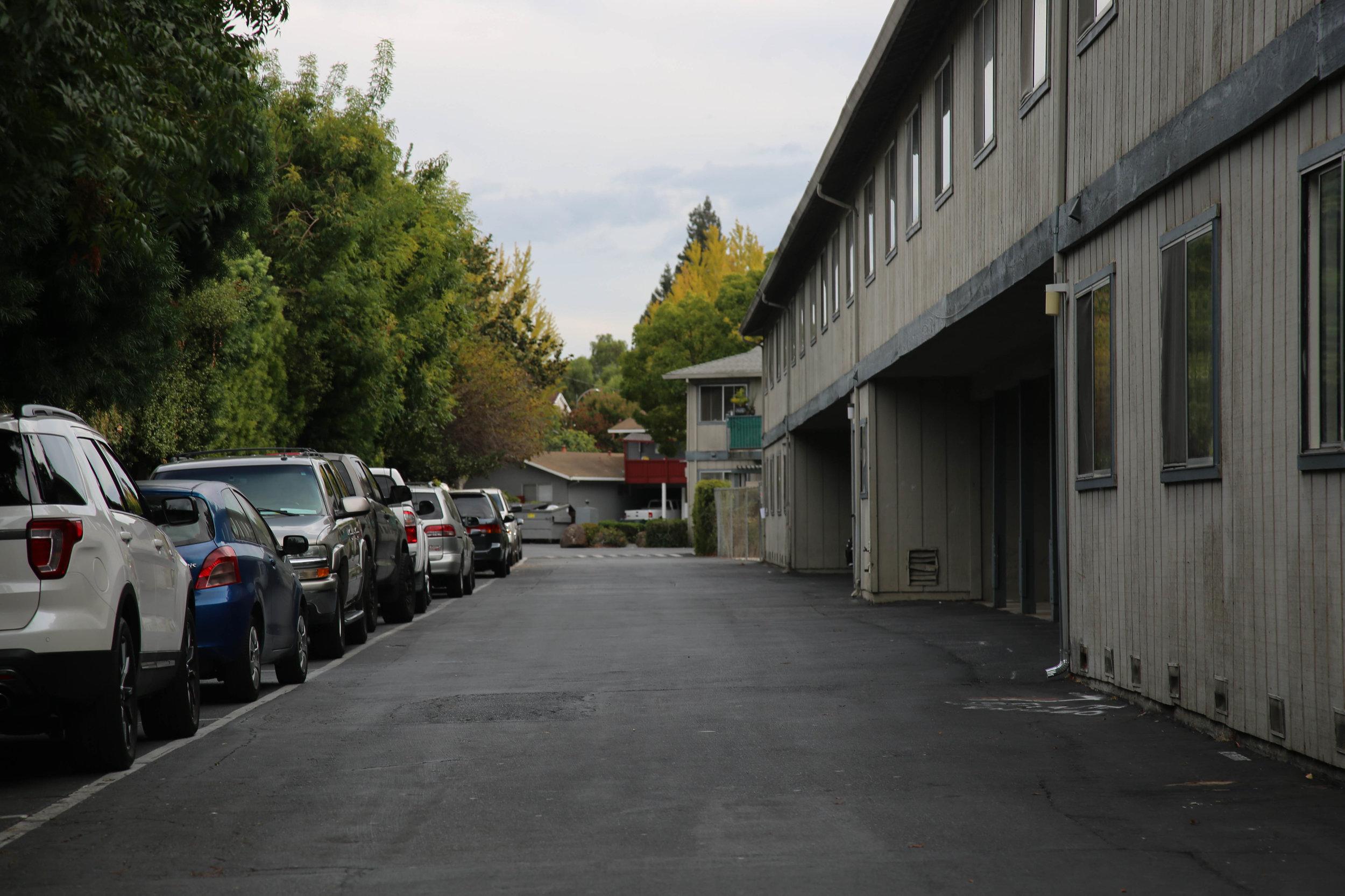 Residences at 2005 Rock Street, Mountain View, California, on Sunday, Sept. 30, 2018. (Melanie Hogue/Peninsula Press)