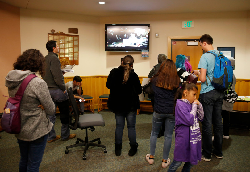 Mountain View City City Council meeting in the council chambers in Mountain View, Calif., on Tuesday, Dec. 11, 2018. (Nhat V. Meyer/Bay Area News Group)