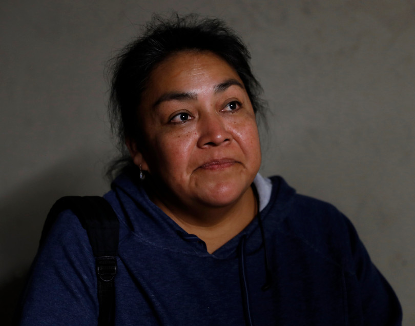 Mountain View, CA - DECEMBER 3: Resident Reyna Dominguez talks with the Mercury News about her rent controlled apartment along Rock St. in Mountain View, Calif., on Monday, Dec. 3, 2018. They meet every week. Mountain View city officials are considering a developer's proposal to raze 20 rent-controlled, affordable apartments and replace them with 15 new, luxury town houses. (Nhat V. Meyer/Bay Area News Group)