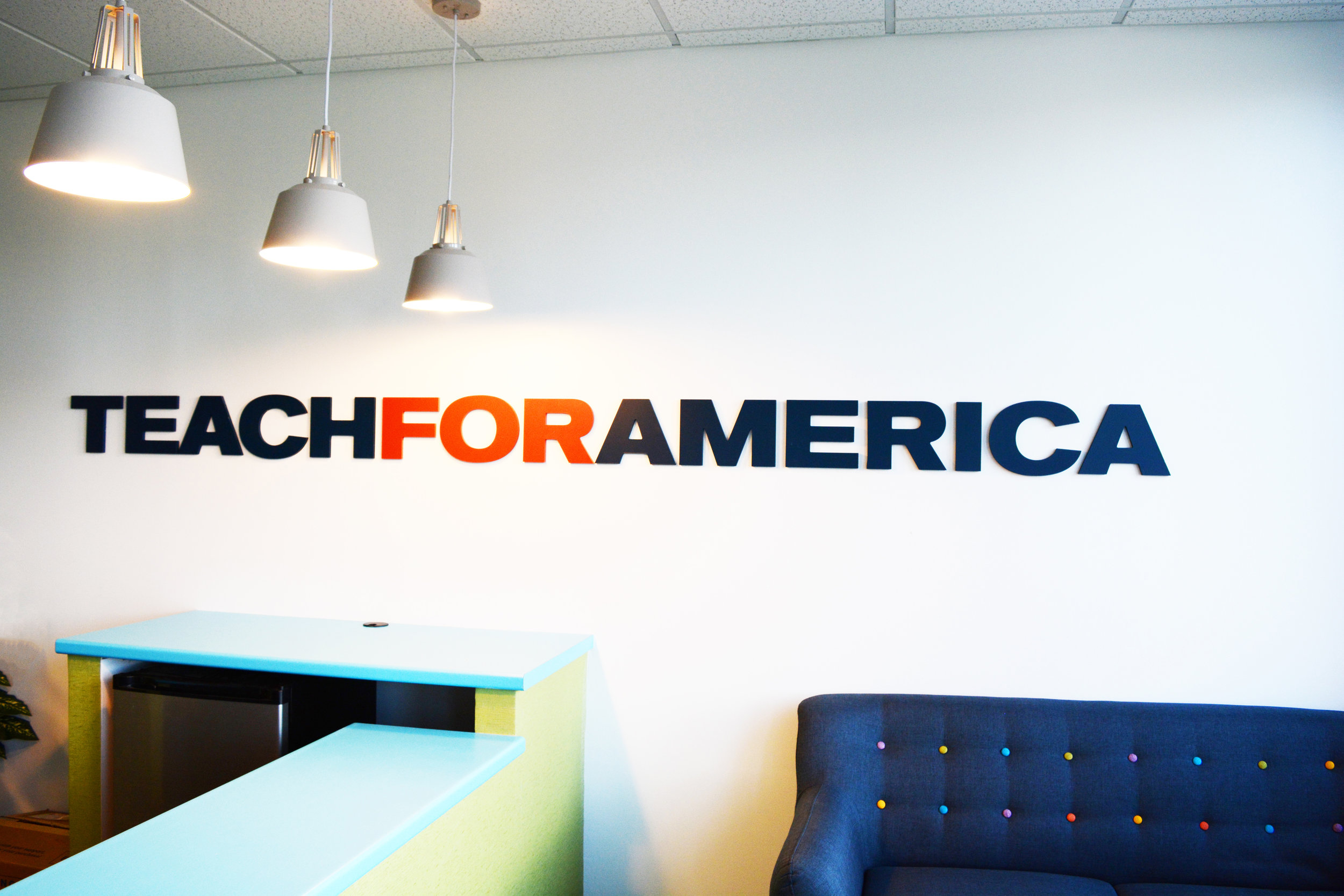 Color and Light: Teach for America Refreshes Their Space -