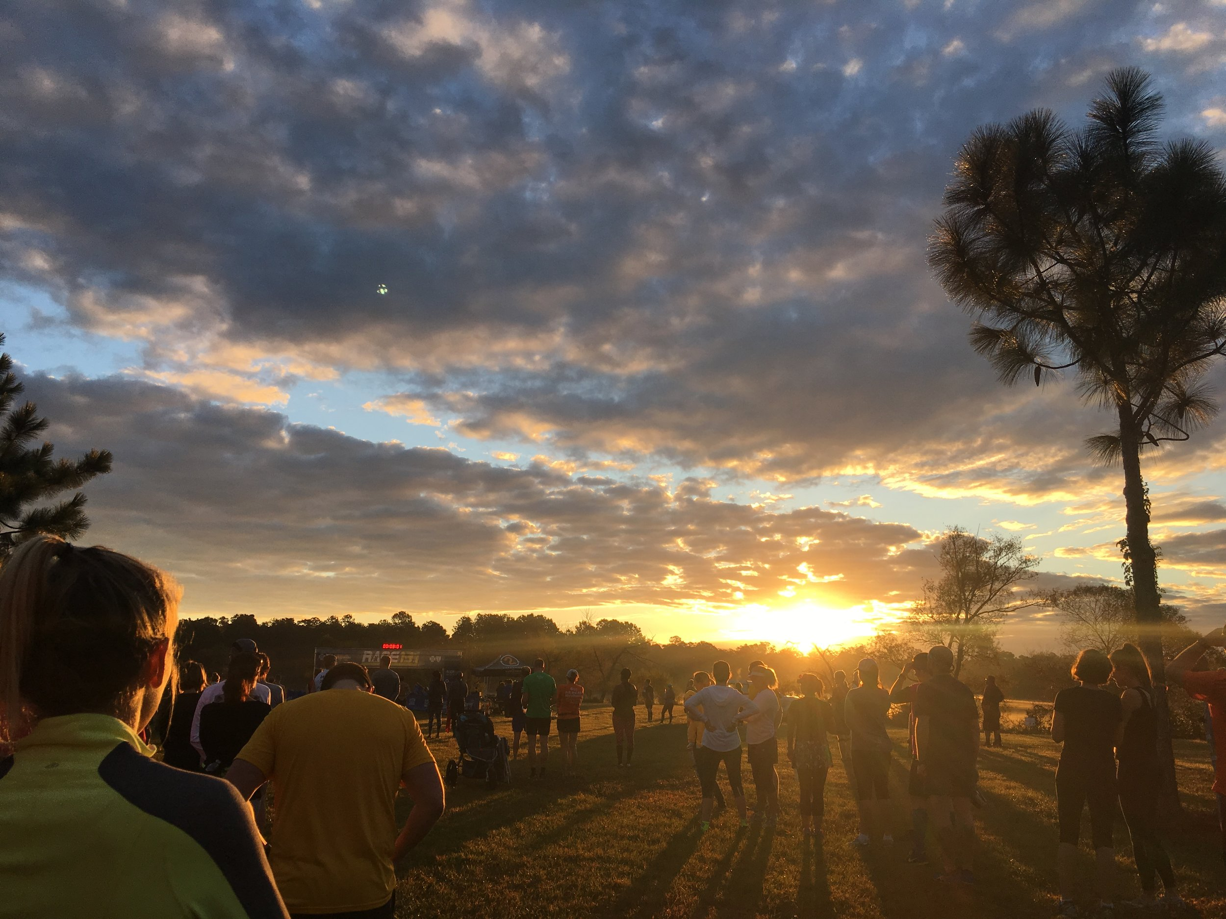 (Race day morning!)
