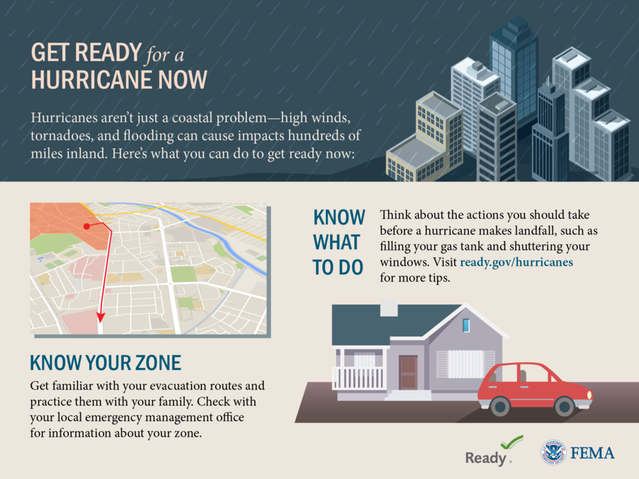 Like this poster? See all of the tools, tool kits, and messaging available for Hurricane season through FEMA's Ready.gov. Just click the image!