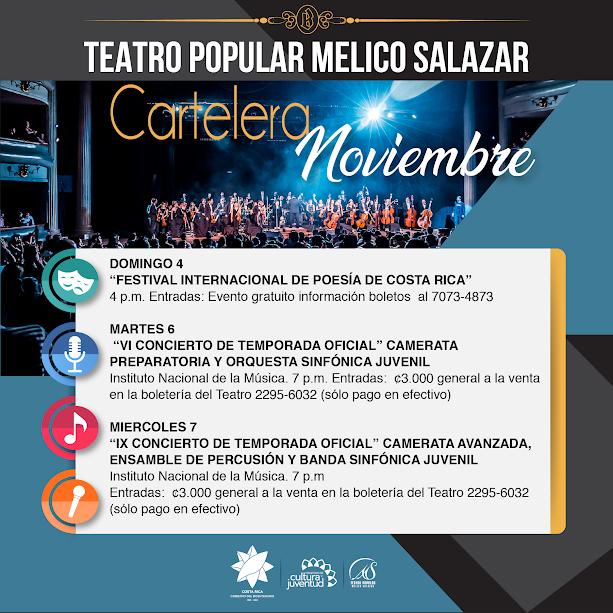 Noviembre el Teatro Popular Melico Salazar — San José Volando