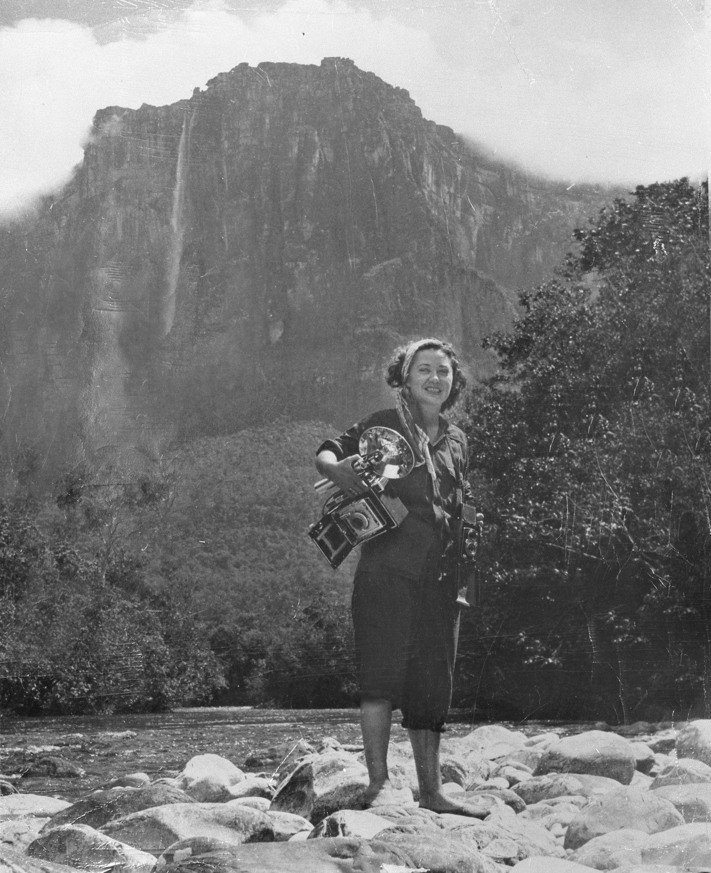 Self-portrait, Angel Falls 1949