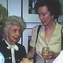 Ruth Robertson and Patricia Hubbard 1993, exhibit opening, University of Texas at Austin.