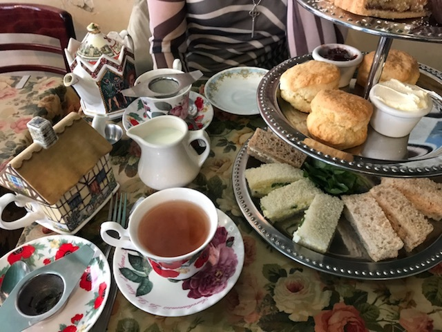 Afternoon tea for two at  Tea & Sympathy . Photo credit to Stephanie Olivero.
